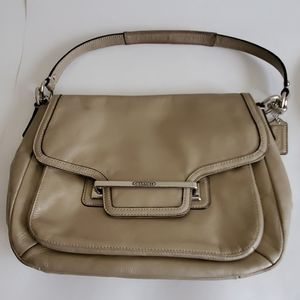 COACH tan shoulder Bag